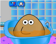 Pou bath and care baba játékok